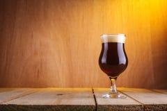 Tulipanowy piwny szkło Obraz Stock