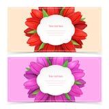 Tulipanowych kwiatów ramowy skład Zdjęcie Royalty Free