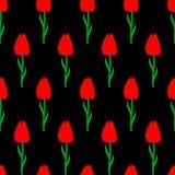 Tulipanu bezszwowy deseniowy tło Obraz Stock