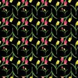 Tulipany bezszwowy pattern2-01 Zdjęcia Stock