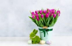 Tulipas frescas cor-de-rosa imagem de stock