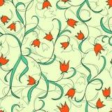 Tulipas Vector o teste padrão floral Imagens de Stock Royalty Free