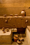 Tulipe考古学站点博物馆,厄瓜多尔 免版税库存图片