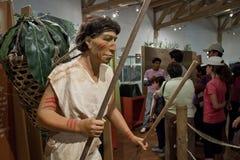 Tulipe考古学站点博物馆,厄瓜多尔 免版税库存照片