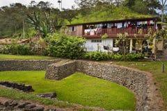 Tulipe考古学站点博物馆,厄瓜多尔 库存照片