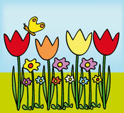 Tulipes illustration stock