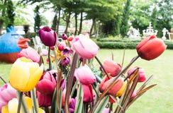 Tulipes artificielles Photos libres de droits