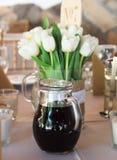 Tulipes et vin Photos libres de droits