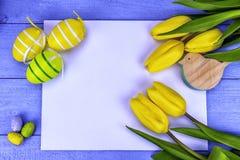 Tulipes jaunes de Pâques Image stock