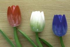 Tulipes néerlandaises en bois Images libres de droits