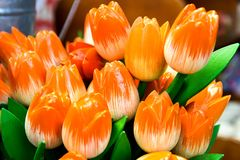 Tulipes oranges décoratives Photographie stock libre de droits