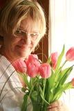 Tulipes roses Photographie stock libre de droits