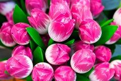 Tulipes roses décoratives Image libre de droits