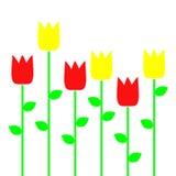 Tulipes rouges et jaunes Photo libre de droits