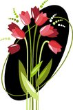 Tulips Congratulation Royalty Free Stock Photography