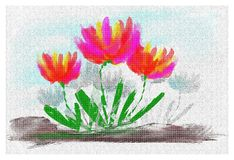 Tulips digital painting Royalty Free Stock Images