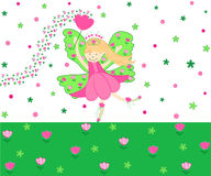 Tulips fairy vector illustration