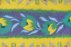 Tulips floral pattern on fabric. Stock Images