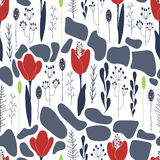 Tulips floral pattern Stock Image