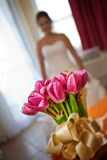 Tulips flower for the bride Royalty Free Stock Photos