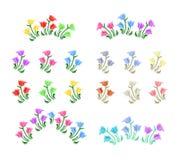 Tulips flowers illustration Royalty Free Stock Photos