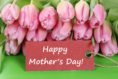Tulips flowers on mothers day Royalty Free Stock Image