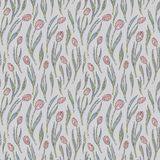 Tulips flowers pattern. Hand drawn floral seamless vector background. Abstract nature texture for wallpaper, wrapping Stock Photography