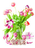 Tulips, gift, love Royalty Free Stock Photo