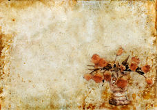 Tulips on a Grunge Background Stock Image