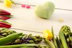 Tulips and hyacinths Stock Photo