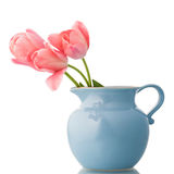 Tulips in jar Royalty Free Stock Images