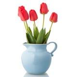 Tulips in jar Stock Photos