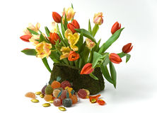 Tulips and Jellies Stock Photo