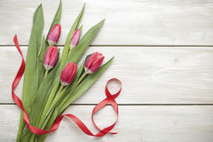 Tulips on March 8 Royalty Free Stock Image