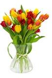 Tulips no vaso fotografia de stock royalty free