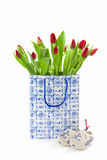 Tulips in a paper bag Stock Photography