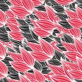 Tulips pattern Stock Photography