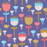 Tulips pattern design Stock Photo