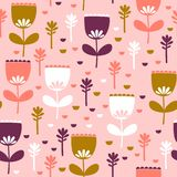 Tulips pattern design Royalty Free Stock Image