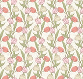 Tulips pattern 4 Stock Photo