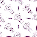 Tulips pattern Royalty Free Stock Images