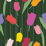 Tulips pattern Royalty Free Stock Photography