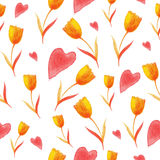 Tulips pattern Royalty Free Stock Image