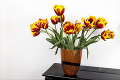 Tulips on piano Royalty Free Stock Photos