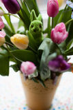 Tulips and rabbit Royalty Free Stock Image