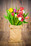 Tulips in the sack Royalty Free Stock Photo