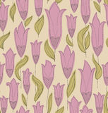 Tulips Seamless Pattern Stock Image