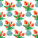 Tulips seamless pattern Royalty Free Stock Photography