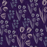 Tulips. Seamless texture. Stock Photography