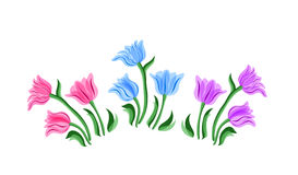 Tulips set. Stock Images